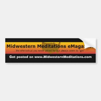 MMeM, Get fijó en www.MidwesternMeditations.com Pegatina Para Auto