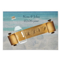 Mmessage in a bottle Beach Wedding Stationery Card