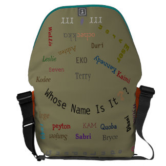 "MMetropoLim ""Whose Name Is It?Collection""myuglycas Messenger Bag"