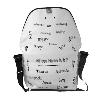 "MMetropoLim ""Whose Name Is It ? Collection"" unisex Messenger Bag"