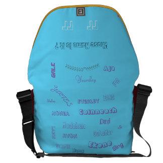 "MMetropolim ""Whose Name Is It? rickshaw bag"