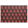 MMIW Red Hand Jeweled Pattern Black Fabric