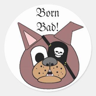 MMM 208, BornBad! Classic Round Sticker
