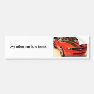 MMM (2), mi otro coche es una bestia Pegatina Para Auto