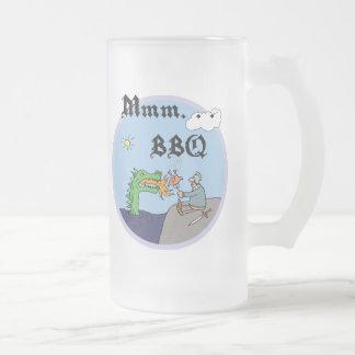 Mmm. . . BBQ 16 Oz Frosted Glass Beer Mug
