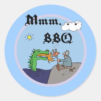 Mmm. . . BBQ Classic Round Sticker