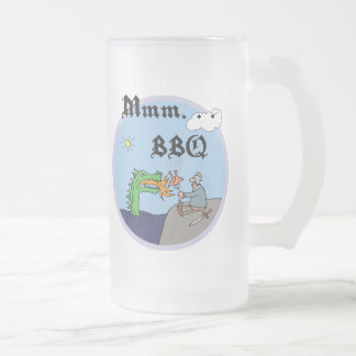 Mmm. . . BBQ Frosted Glass Beer Mug