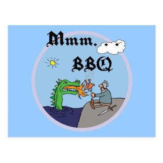 Mmm. . . BBQ Postcard