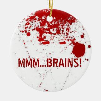 MMM...Brains Ceramic Ornament