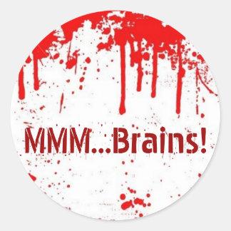 MMM...Brains Classic Round Sticker
