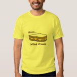 Mmm. Camiseta asada a la parrilla del queso Poleras