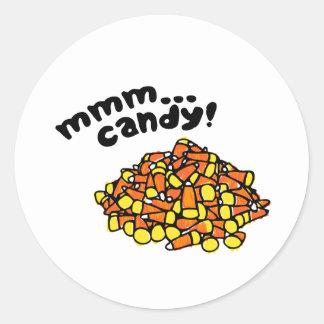 Mmm candy... classic round sticker