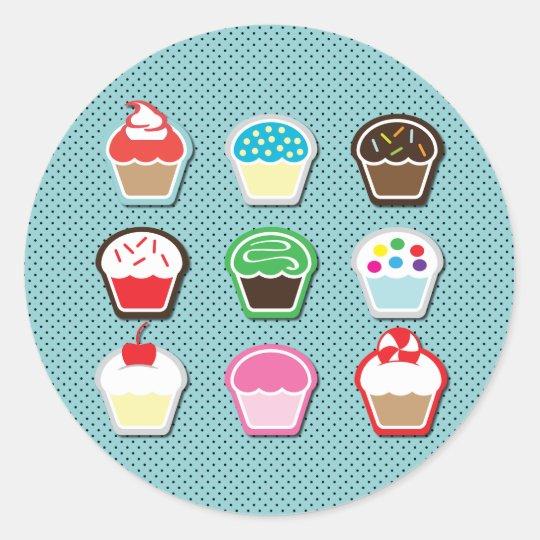 Mmm, Cupcakes! Classic Round Sticker