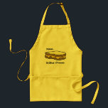 """Mmm...Grilled Cheese Adult Apron<br><div class=""""desc"""">Grilles cheese apron</div>"""