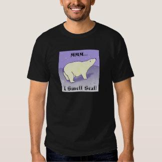 MMM… ¡Huelo el sello! Camiseta del oso polar Poleras