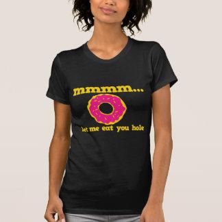 mmm let me eat you hole doughnut design t shirt