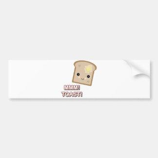 mmm toast bumper sticker