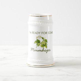 Mmmhops IPA Beer Stein 18 Oz Beer Stein