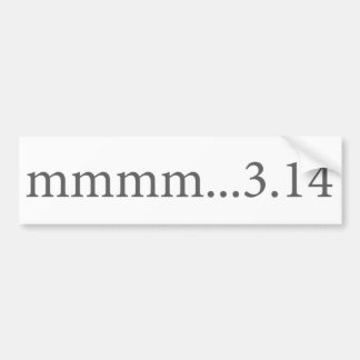 Mmmm… 3,14 pegatina para coche