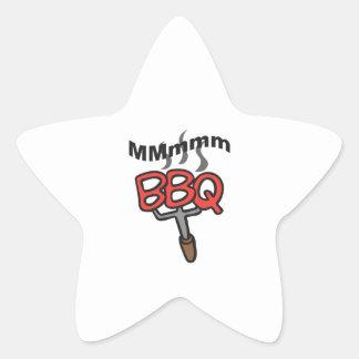MMMM BBQ STAR STICKER
