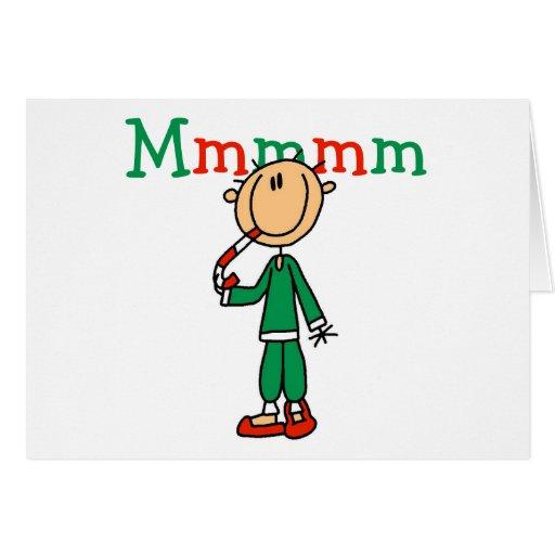 Mmmm camisetas y regalos de los bastones de carame tarjeta