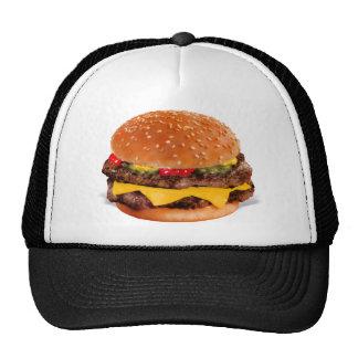 Mmmm cheeseburger gorros bordados