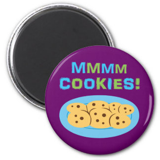 Mmmm Cookies! 2 Inch Round Magnet