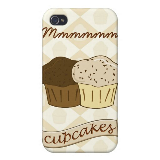Mmmm Cupcakes - Cute Dessert Cakes Covers For iPhone 4