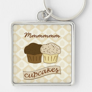 Mmmm Cupcakes - Cute Dessert Cakes Keychain