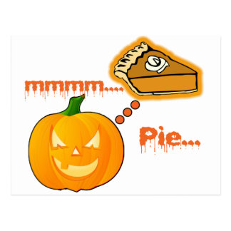 Mmmm..... Pumpkin Pie - Halloween Postcard