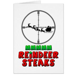 Mmmm… Reindeer Steaks Cards