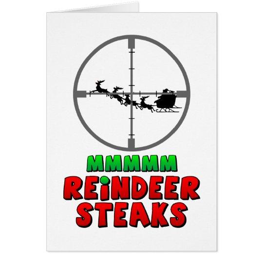 Mmmm… Reindeer Steaks Card