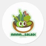 Mmmm Salad Classic Round Sticker