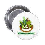 Mmmm Salad Pinback Button