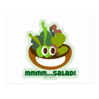 Mmmm Salad Postcard