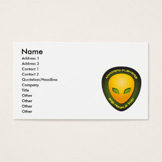 MMORPG Players Are People Too Business Card