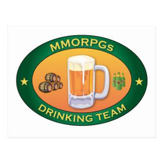 MMORPGs Drinking Team Postcard