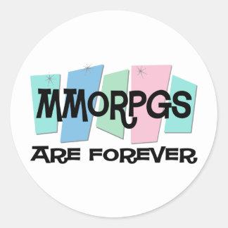 MMORPGs es Forever Pegatina Redonda