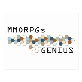 MMORPGs Genius Postcard