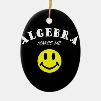 MMS: Algebra Double-Sided Oval Ceramic Christmas Ornament