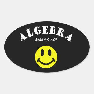 MMS: Algebra Oval Sticker