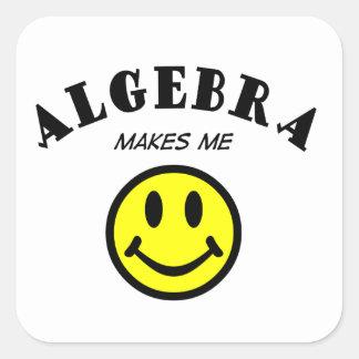 MMS: Álgebra Calcomanías Cuadradass Personalizadas