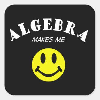 MMS: Álgebra Pegatina Cuadrada