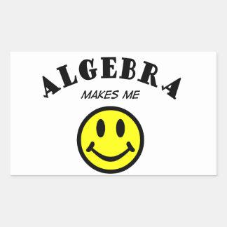 MMS: Álgebra Pegatina Rectangular
