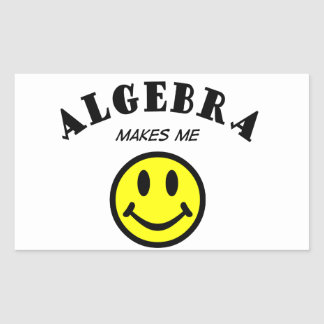 MMS: Algebra Rectangular Sticker