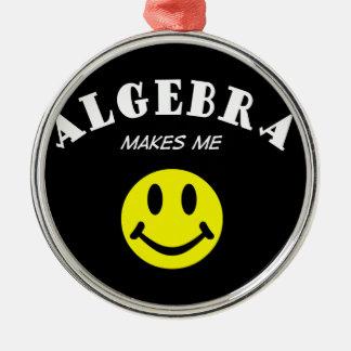 MMS: Algebra Round Metal Christmas Ornament