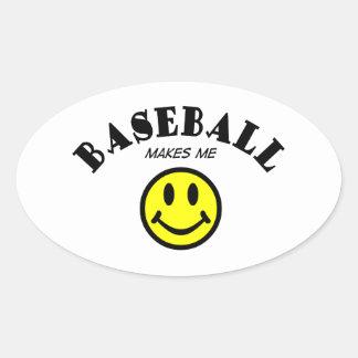 MMS: Baseball Oval Sticker