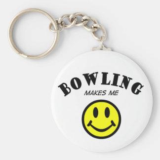 MMS: Bowling Basic Round Button Keychain