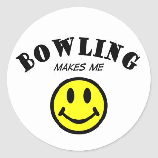 MMS: Bowling Classic Round Sticker
