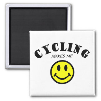 MMS: Cycling 2 Inch Square Magnet